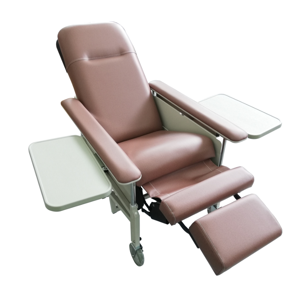 Reclining Geriatric Chair with Drop Down Armrest