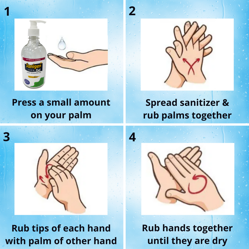 How to Use Sanigen Hand Sanitizer 500ml