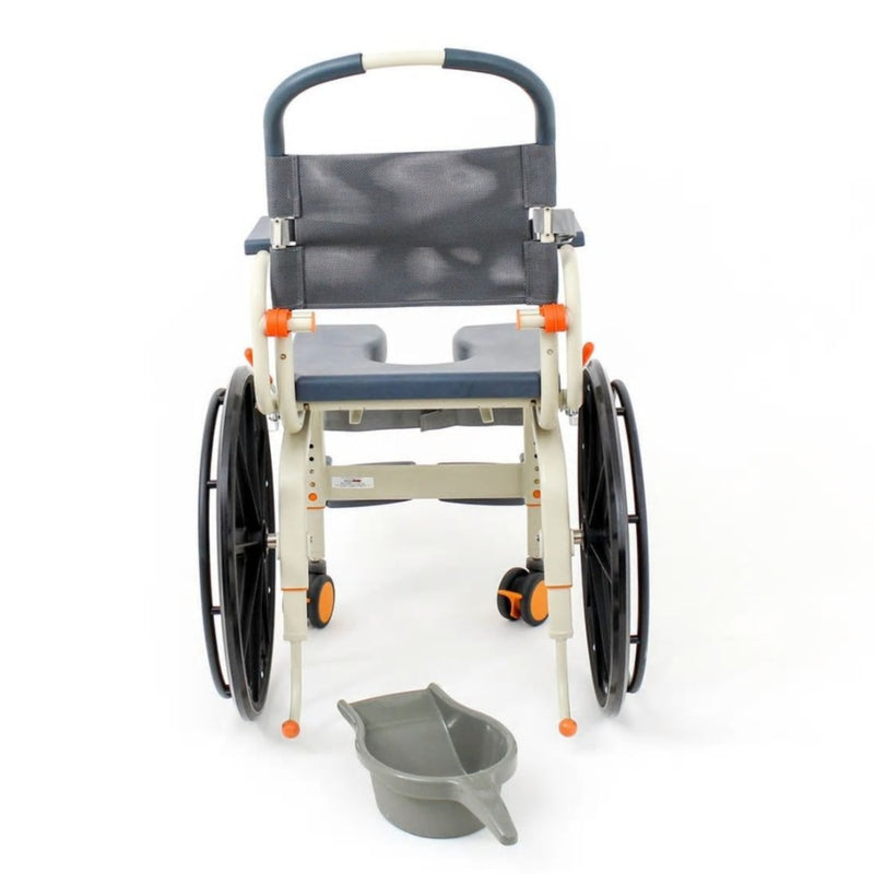 ShowerBuddy Roll-In Buddy Self-Propel Commode SB6W rear view