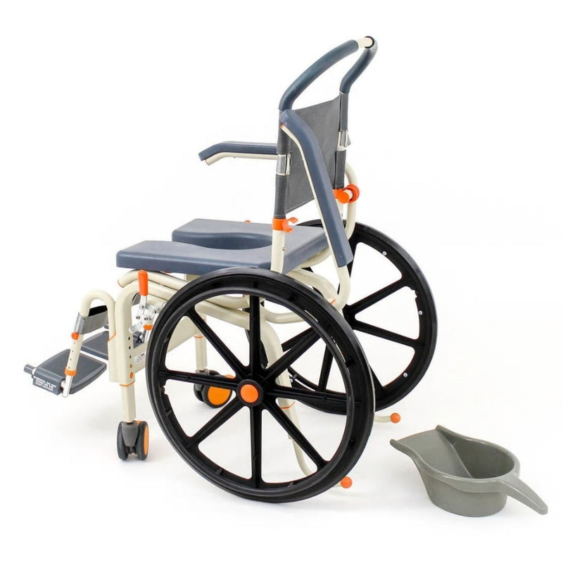 ShowerBuddy Roll-In Buddy Self-Propel Commode SB6W side view