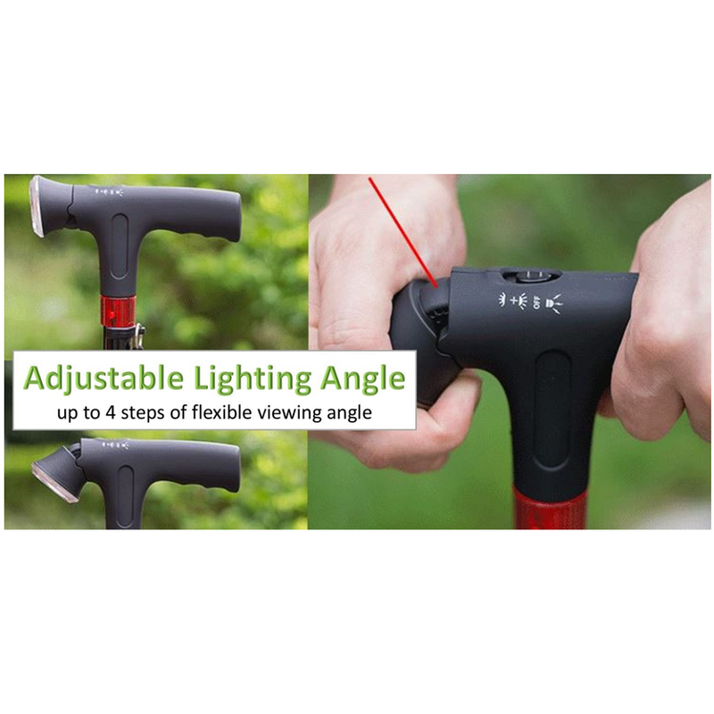 Smart Folding Walking Stick (Essential Handle with Manual Alarm)