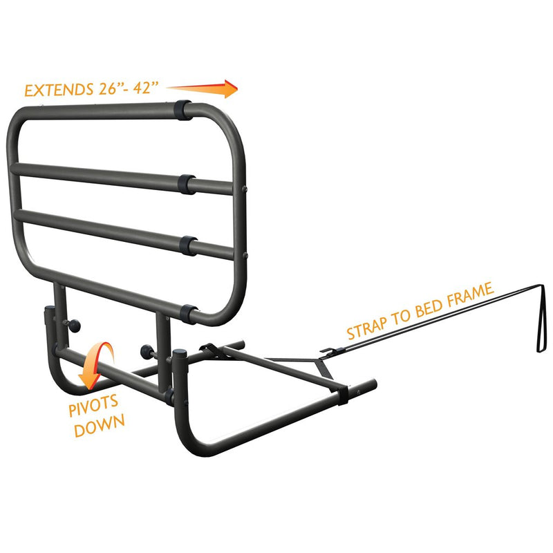 EZ Adjust Bed Rail For Fall Prevention