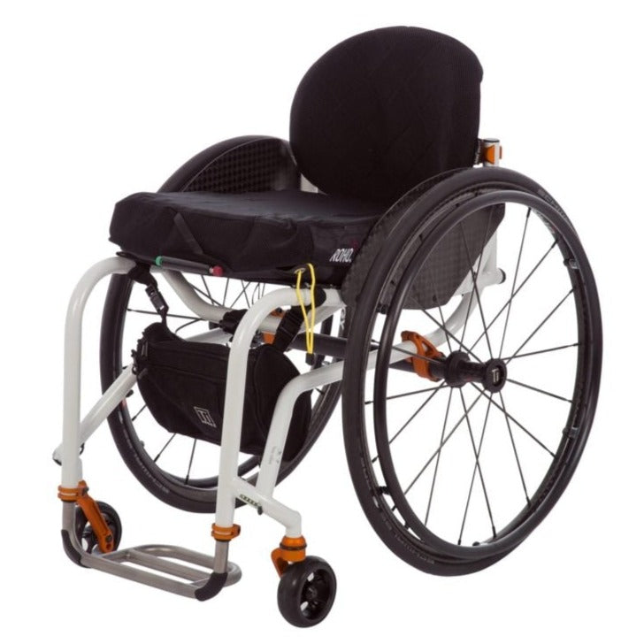 SANCTION STANDARD WHEELCHAIR FOLD BACK WITH ASSISTED BRAKES - 18""