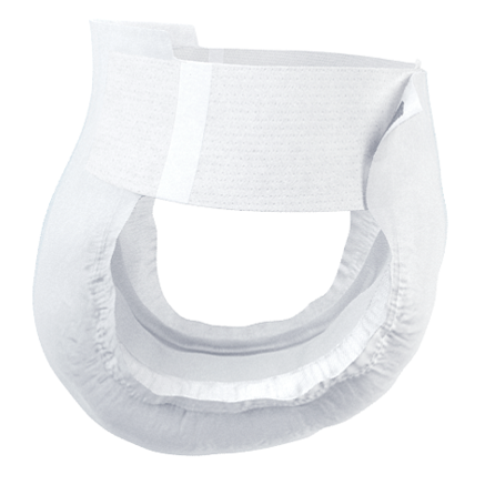 TENA Flex Plus Diapers with Waist Belt side view