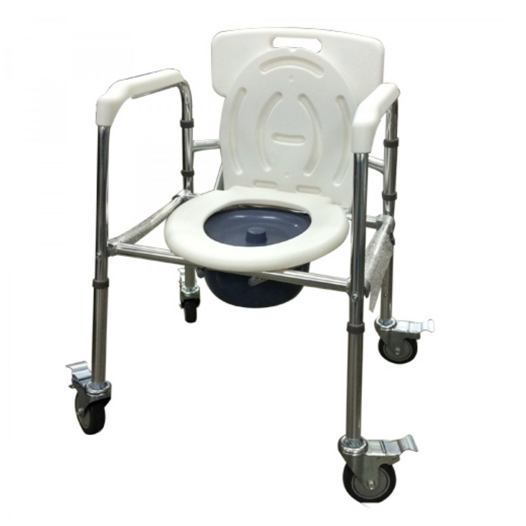 Aluminium Mobile Commode Foldable