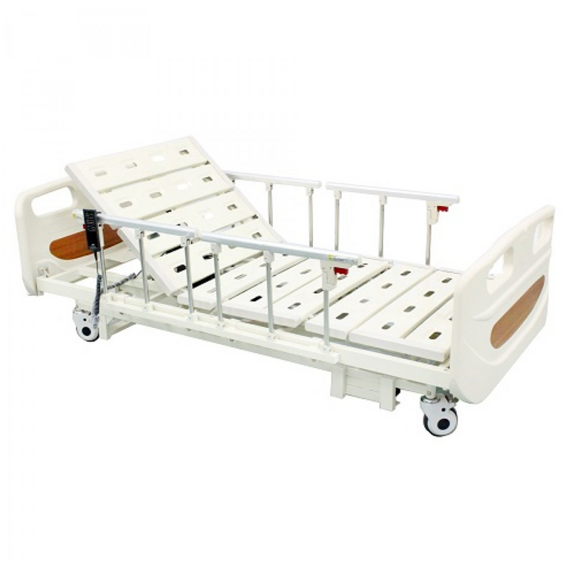 3 Functions Electric Hospital Bed Low Bed with 4 Side Rails - DNR WHEELS PTE LTD