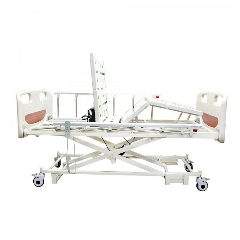 3 Functions Electric Hospital Bed Low Bed with Dual Side Rail - DNR WHEELS PTE LTD
