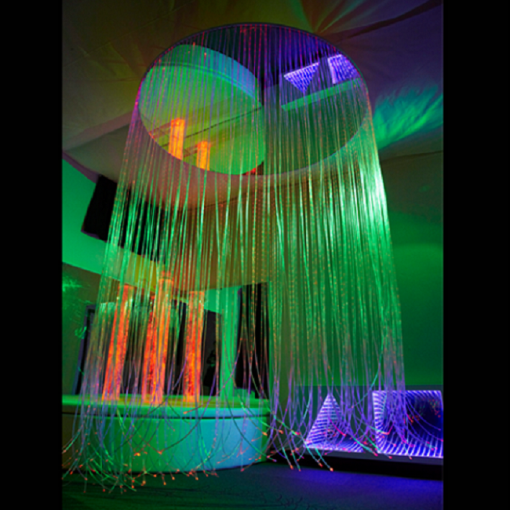 Iris Cricular LED Fiber Optic Shower - DNR WHEELS PTE LTD