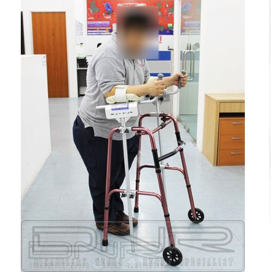 DNR Wheels - Foldable Walking Frame with Platform Crutch