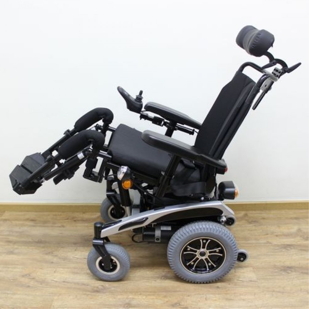 Tilt & Recline Powered Wheelchair with Elevating Footrests - DNR Wheels