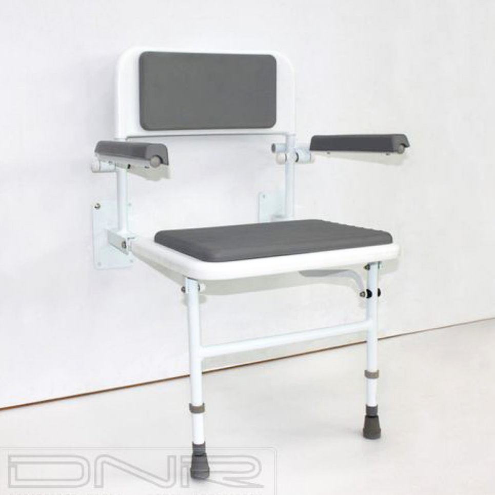 DNR Wheels - Wall-Mounted Padded Shower Chair