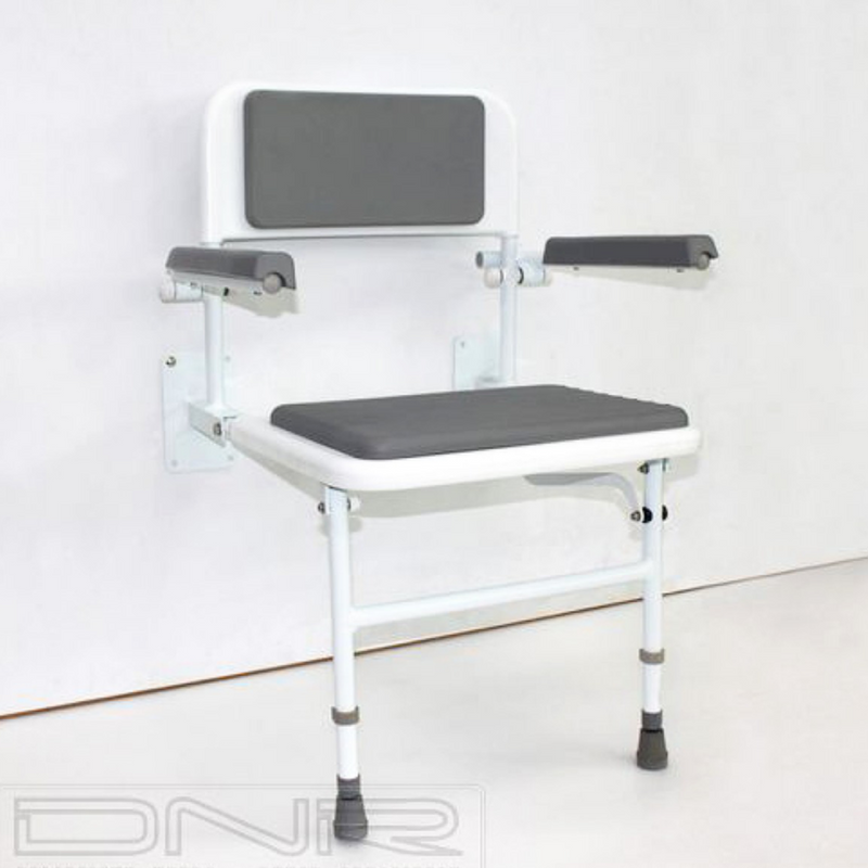 Wall-Mounted Padded Shower Chair
