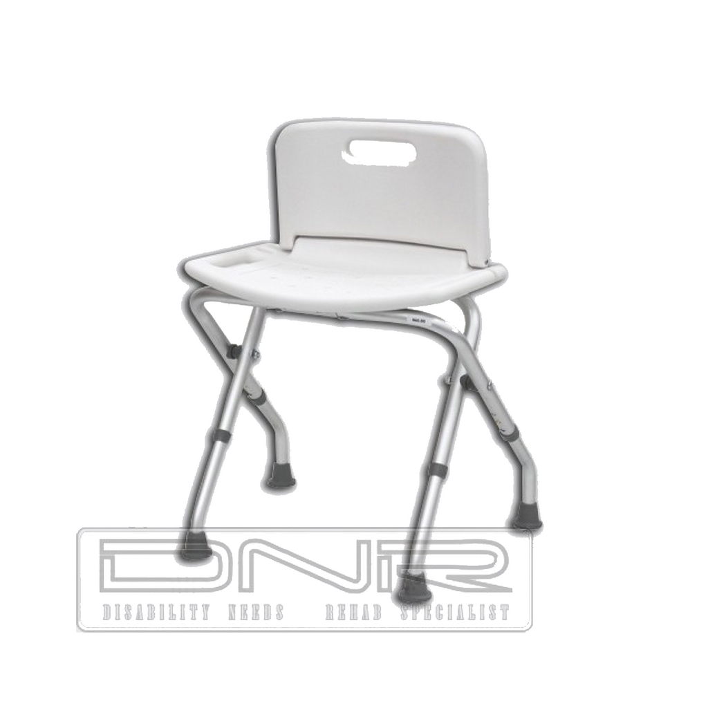 Folding Shower Chair with Back - DNR WHEELS PTE LTD