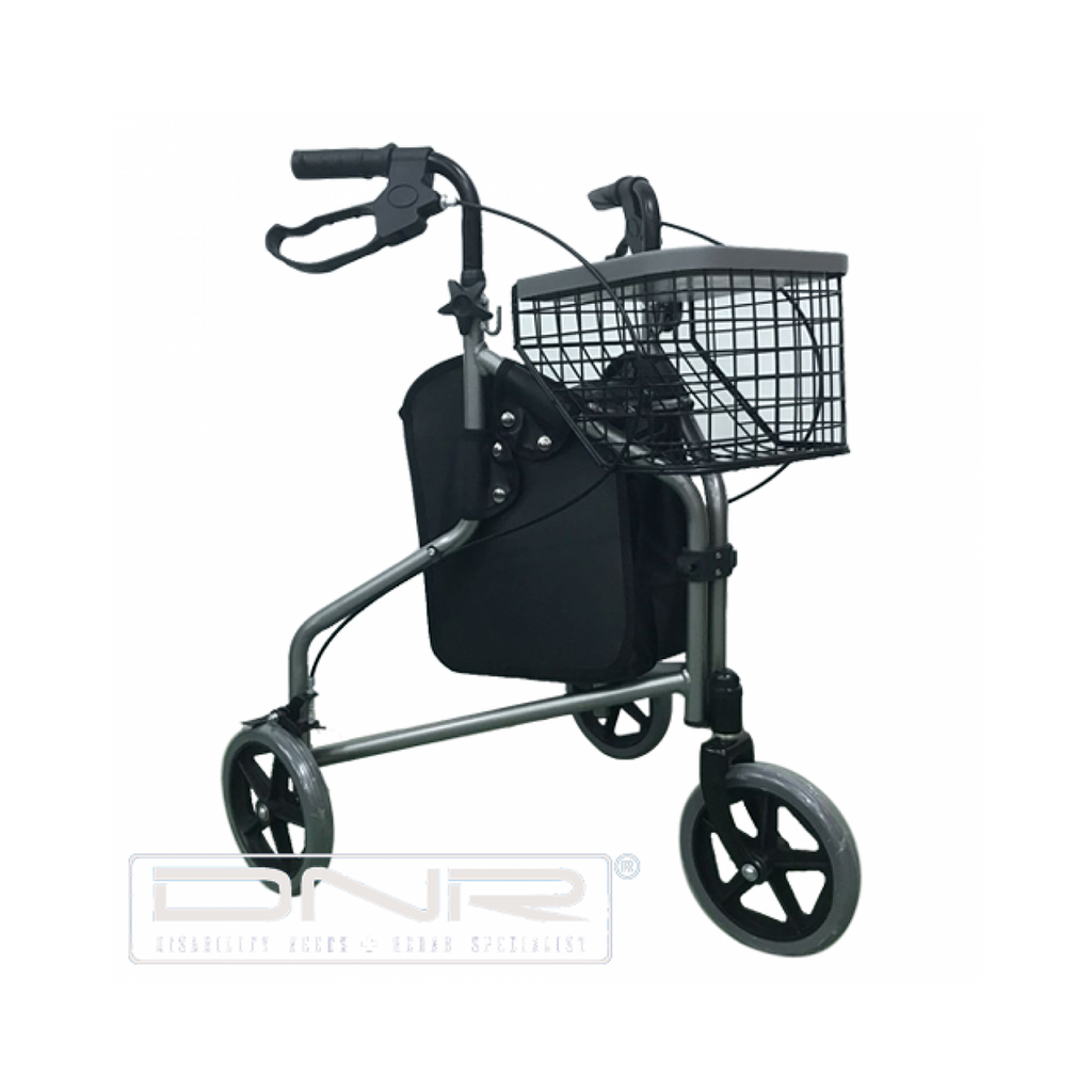 3-Wheel Aluminium Rollator - DNR Wheels