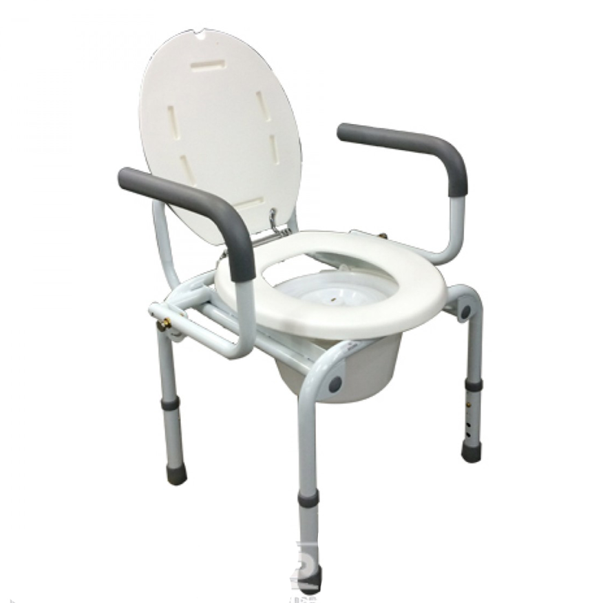Swing-Down-Arm Commode