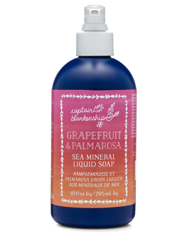 Grapefruit & Palmarosa Sea Mineral Liquid Soap