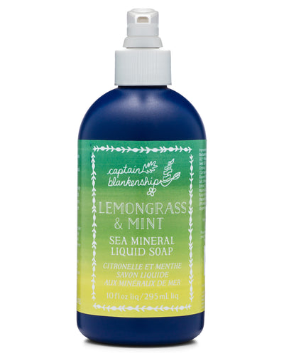 Lemongrass & Mint Sea Mineral Liquid Soap
