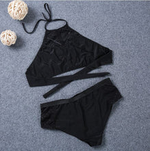 Load image into Gallery viewer, Mesh High Neck Bikini Set