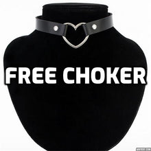 Load image into Gallery viewer, Sexy  Leather Heart  Choker