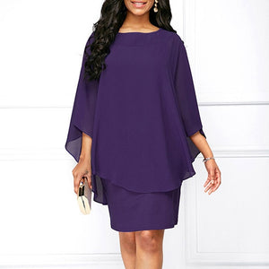 Casual Loose Mini Plus Size Dress