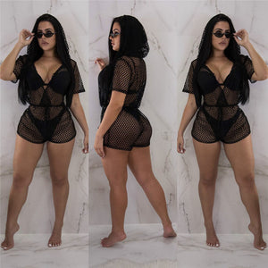 Sexy Hot Fishnet Beachwear Covering