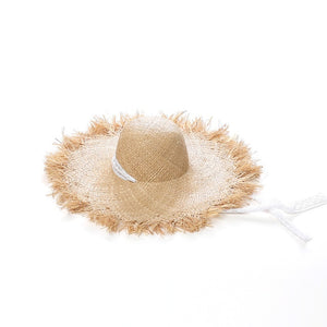 Lace Straw Hat