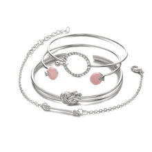 Load image into Gallery viewer, Classic Arrow Knot Round Bracelet Set
