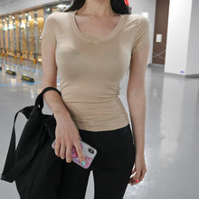 Load image into Gallery viewer, Elasticity Sexy Deep V Neck T shirt
