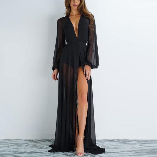 Chiffon See-Through Beach Dress