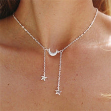 Load image into Gallery viewer, Short Crystal Stars Necklace