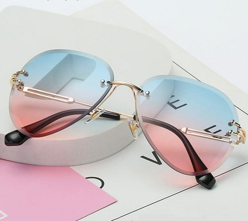 Rimless Gradient Shade Sunglasses