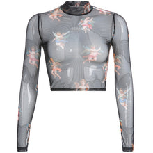 Load image into Gallery viewer, Long Sleeve Mesh Tops