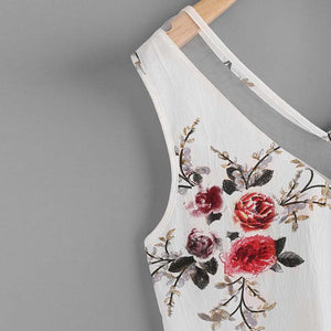 Chiffon Floral Casual Sleeveless  Shirt