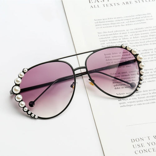 Personality Pearl Sunglasses