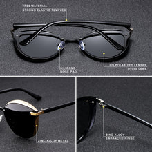 Load image into Gallery viewer, Polarized Vintage Cat Eye Sunglasses