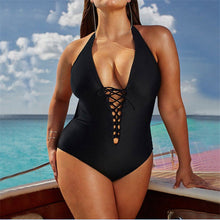 Load image into Gallery viewer, One Piece Women Plus Size Vintage Swimwear