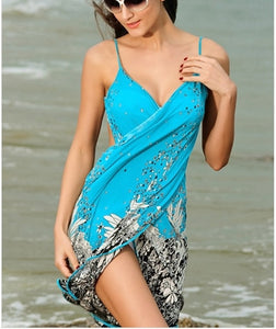 Sexy Green Chiffon Beach Dress