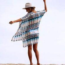Load image into Gallery viewer, Crochet Knitted Tassel Tie Beach Dress