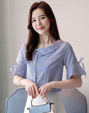 Image of Woman Short Sleeve Shirt ep-R256s