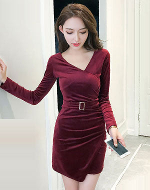 Image of Woman Short  Dress ep-R9862