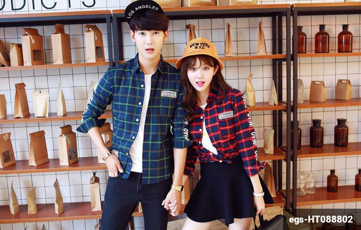 Image of Couple Long Sleeve Shirt egs-HT088802