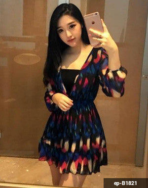 Woman Short Dress ep-B1821