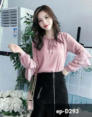 Woman Long Sleeve Shirt ep-D293