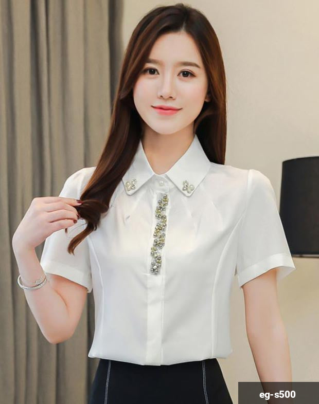 Image of Woman Short Sleeve Shirt eg-s500