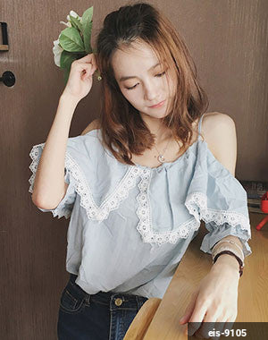 Women Short Sleeve Shirt eis-9105
