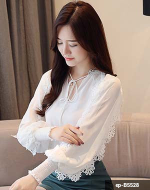 Woman Long Sleeve Shirt ep-B5528