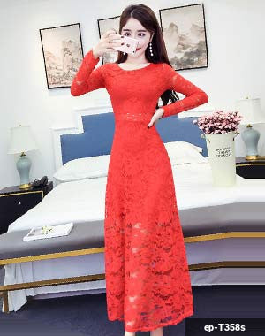 Image of Woman Long Dress ep-T358s