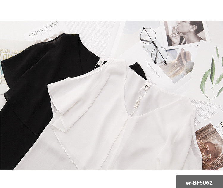 Image of Woman Short Sleeve Shirt er-BF5062