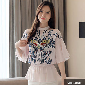Woman Short Sleeve Shirt VSB-e9270