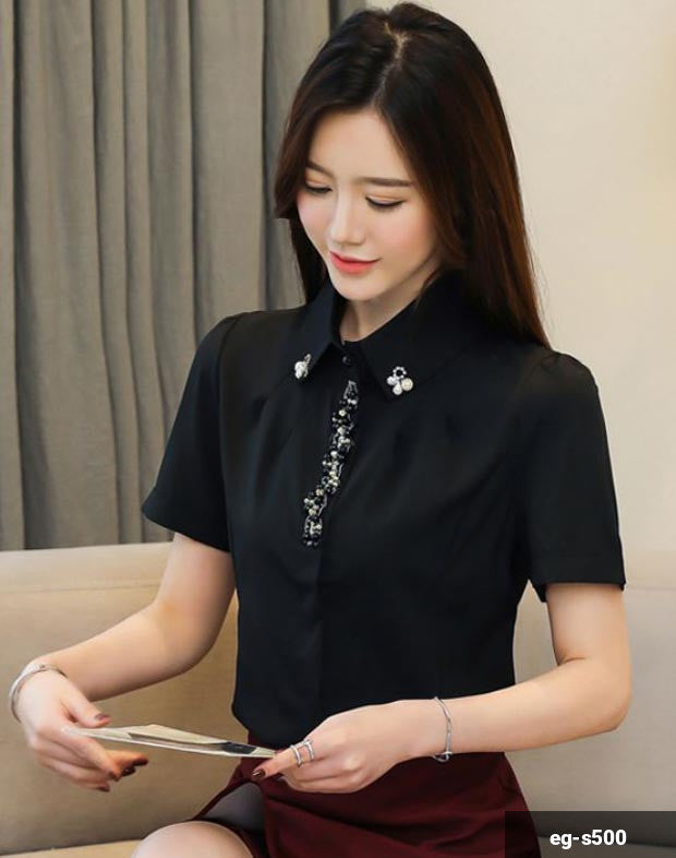 Woman Short Sleeve Shirt eg-s500